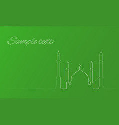 with the contours of the mosque for infograp vector image