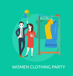 womens clothing party conceptual design vector image