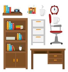 Work office design vector