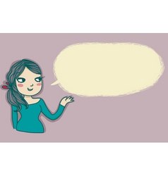 Young girl speaking vector