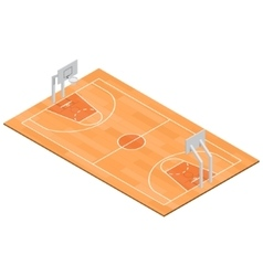 Basketball Field Isometric View vector image vector image