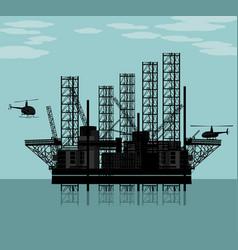 big oil platform vector image