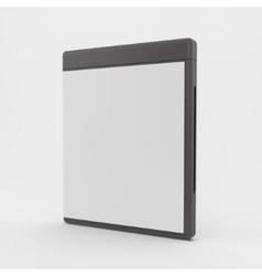 Blank DVD-case or CD-case 3d vector image