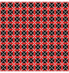 Flower and line geometric seamless pattern 2307 vector image vector image