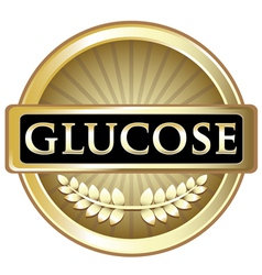 Glucose Gold Label vector image