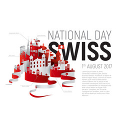Poster or banner to the switzerland national day vector