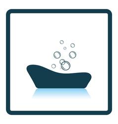Baby bathtub icon vector image