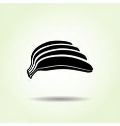 Banana icon Hand of bananas Black silhouette vector image vector image