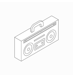 Cassette recorder icon isometric 3d style vector image vector image