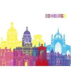 Edinburgh skyline pop vector image