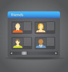 Friends board vector image vector image
