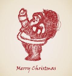 Santa Claus Sketch vector image vector image