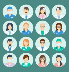 avatar hospital staff vector image