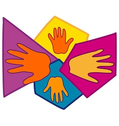 Hand Symbols Together vector image vector image