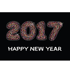 happy new year 2017 celebration card vector image vector image