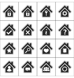 Icons with a house vector image vector image