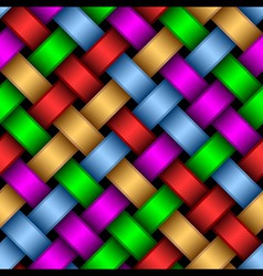 multicolored ribbons vector image vector image
