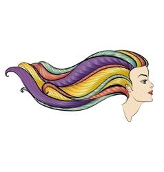 Girl portrait vector image vector image