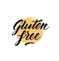 Gluten free label Hand drawn brush lettering vector image