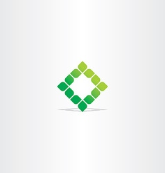 green square leaf logo icon vector image vector image