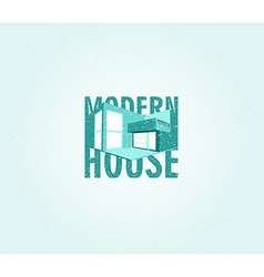 Modern house vector image vector image