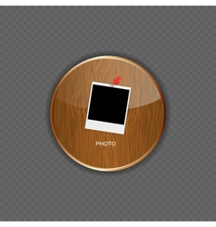 Photo wood application icons vector image vector image