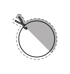 round tag price discount cut line vector image vector image