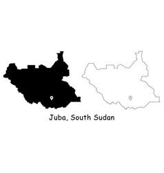 1168 juba south sudan vector image