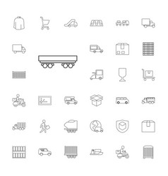 33 delivery icons vector image