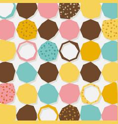 abstract retro geometric hexagonal pattern vector image