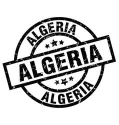Algeria black round grunge stamp vector