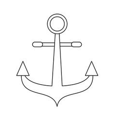 anchor marine symbol vector image