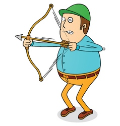Archery man vector