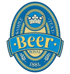 beer label design vector image