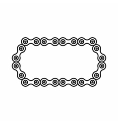 Bicycle chain icon outline style vector