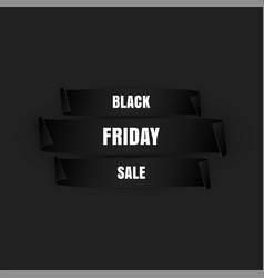 black friday banner special sale paper scrolls vector image
