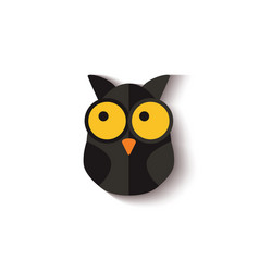 black owl halloween night symbol vector image