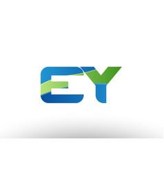 blue green ey e y alphabet letter logo vector image