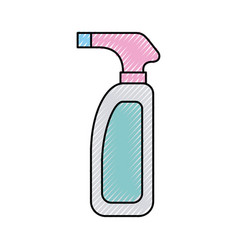 Bottle with sprinkler icon vector