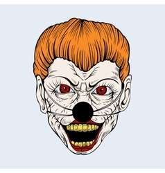 cartoon scary clown vector image