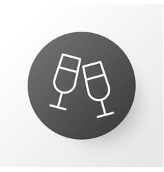 clink glasses icon symbol premium quality vector image
