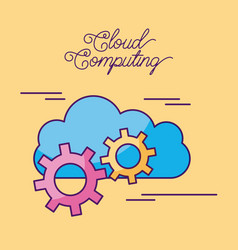 cloud computing digital network connection vector image