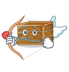 Cupid crate character cartoon style vector
