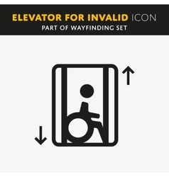 Disability man pictogram flat icon lift vector image