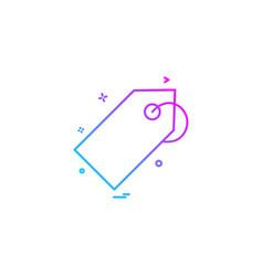 discount tag icon design vector image