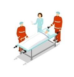 Doctor Treating Patient vector