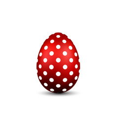 Easter egg 3d icon red color egg isolated white vector