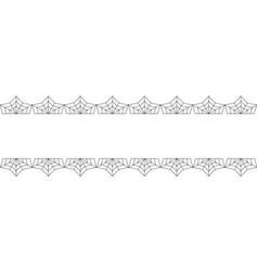elegant double black spiderweb lace border with vector image