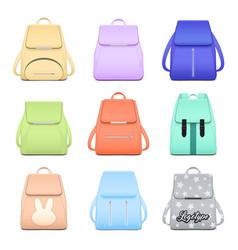 elegant school bags collection vector image