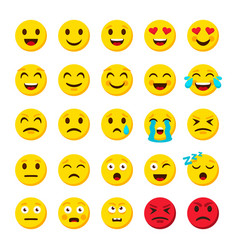 emoji set emoticon cartoon emojis symbols digital vector image